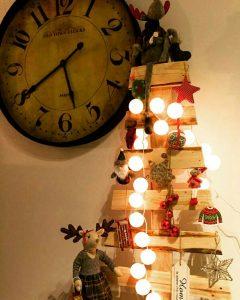 arbol de navidad hecho con palets