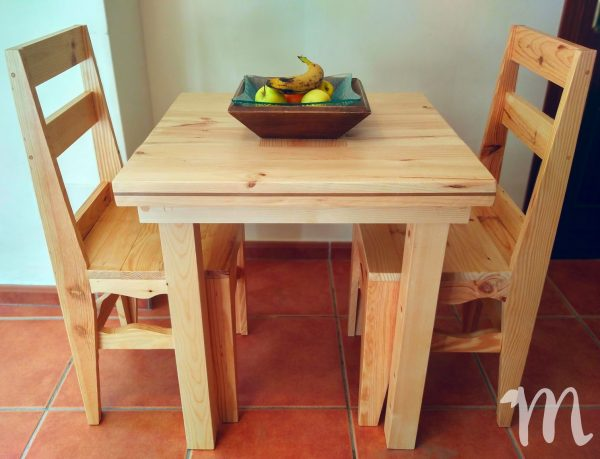 Mesa de comedor rústica - lujan