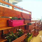 Jardin vertical de estilo rustico