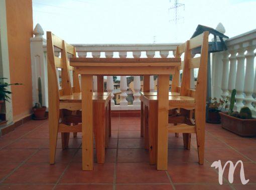 Mesa de comedor hecha con madera de palets - luján grande