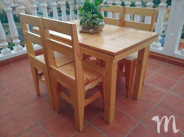 Mesa de madera grande para comedor - Luján