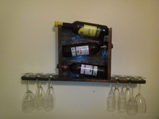 Botellero rústico hecho con madera de palets - wilde