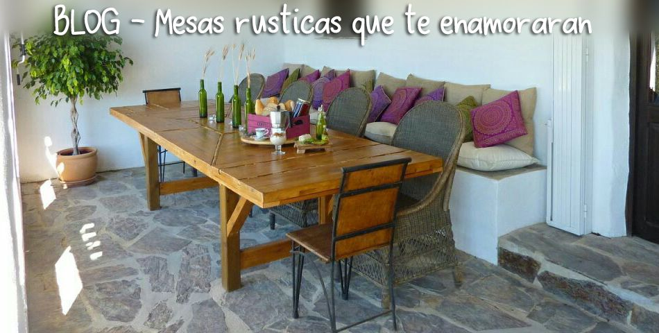 5 mesas de palets rusticas que te enamorarán