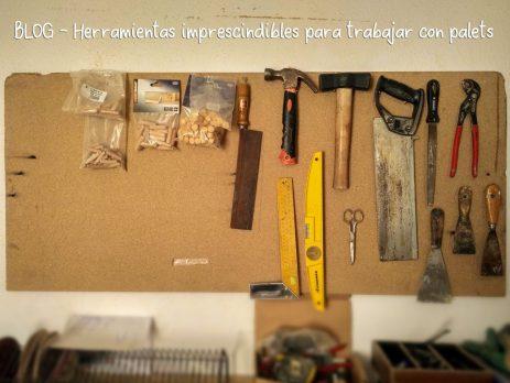 Herramientas imprescindibles para hacer muebles de palets