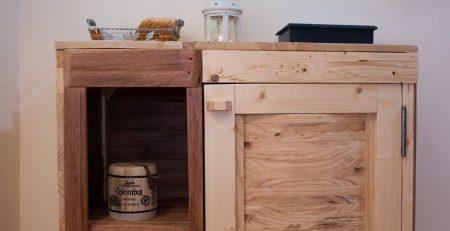 Muebles de palets con los que decorar la cocina