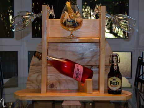 Cómo hacer un botellero de madera