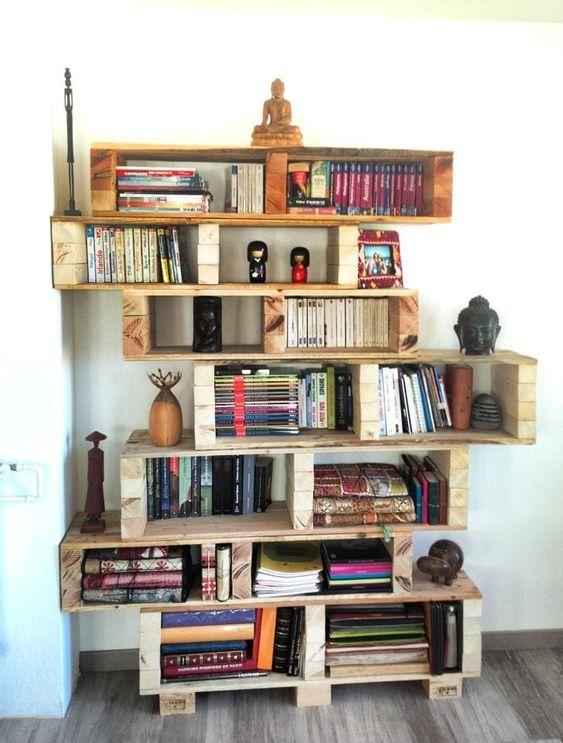 estanterias de palets para libros 2 1