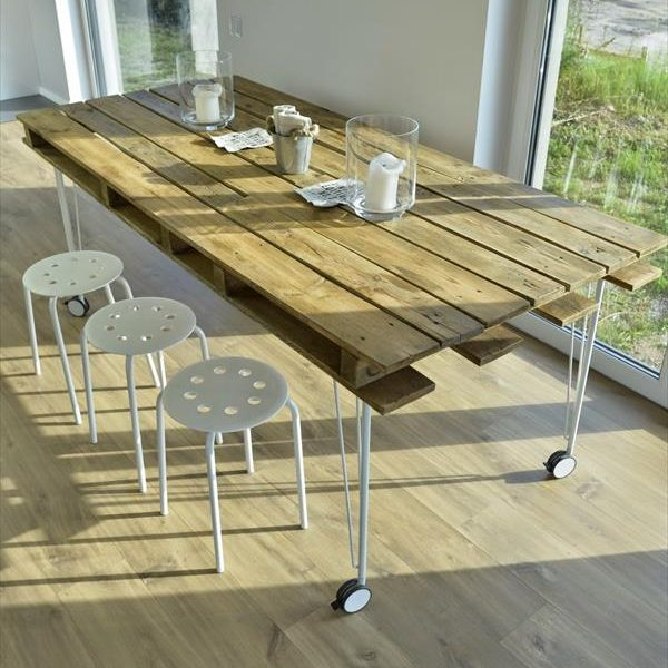 mesa de comedor con ruedas