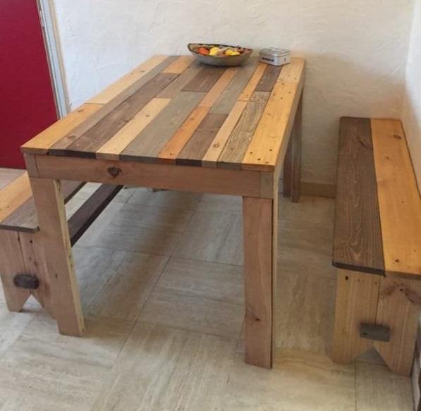 mesa rustica palet