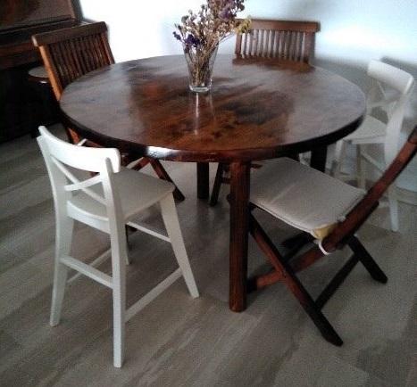 mesa circular palets