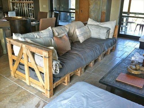 sofá de palet estilo chillout