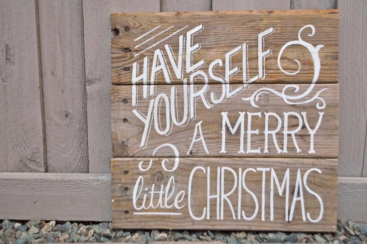 tablero de palet navidad con mensaje personalizado