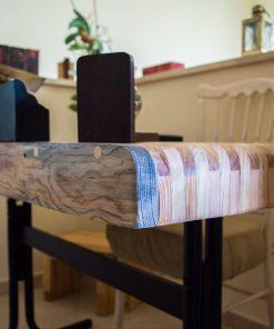 escritorio hecho con palets