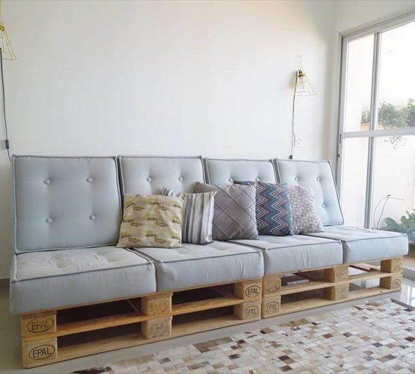 sofás de palets con encanto