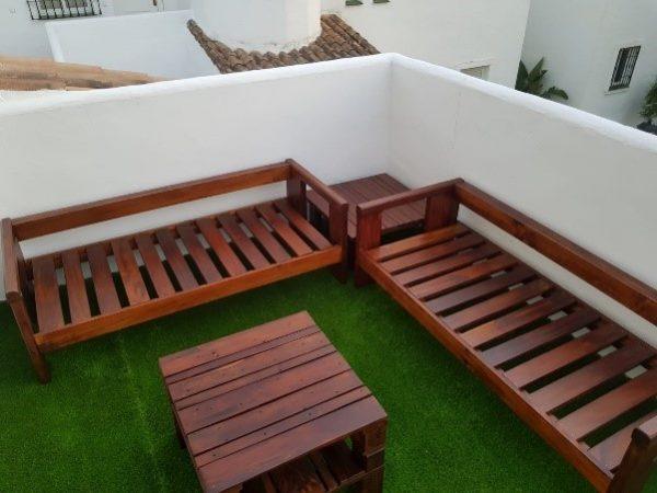 sofa palets modelo confort