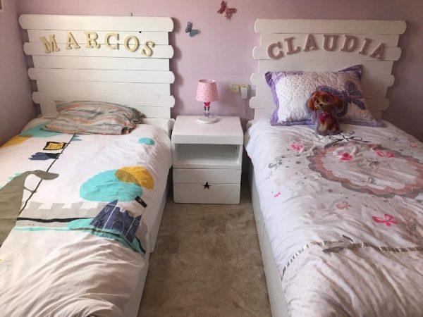 cama individual de palets