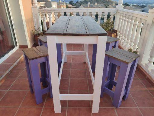 mesa alta de palets