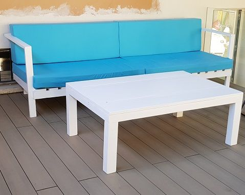 sofa con palets confort