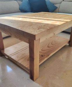 mesa de centro rustica