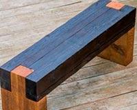 bancos rusticos de madera