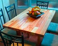 mesa de palets con listones