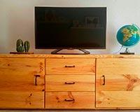 mueble tv con palets