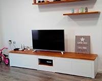 mueble tv de madera estilo nordico