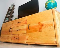 mueble tv hecho con palets