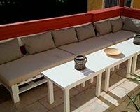 muebles con palets jardin