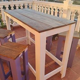 mesas altas